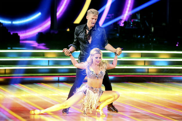 "<div class=""meta image-caption""><div class=""origin-logo origin-image ""><span></span></div><span class=""caption-text"">Cody Simpson and partner Witney Carson dance the Cha Cha Cha on week 1 of ABC's 'Dancing With The Stars' on March 17, 2014. They received 22 out of 30 points from the judges. (ABC Photo / Adam Taylor)</span></div>"