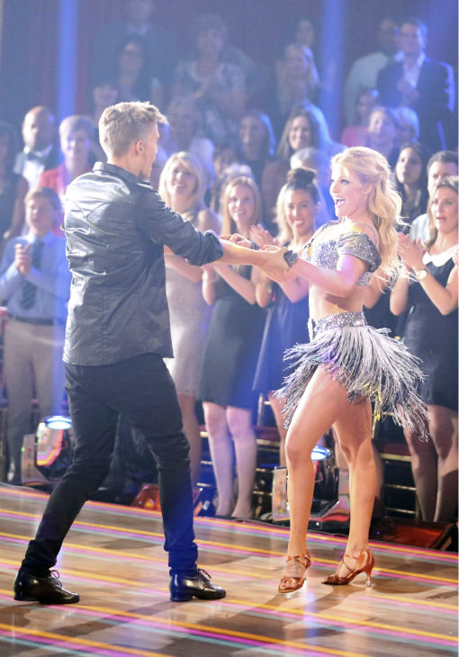 Cody Simpson and partner Witney Carson dance the Cha Cha Cha on week 1 of ABC&#39;s &#39;Dancing With The Stars&#39; on March 17, 2014. They received 22 out of 30 points from the judges. <span class=meta>(ABC Photo &#47; Adam Taylor)</span>