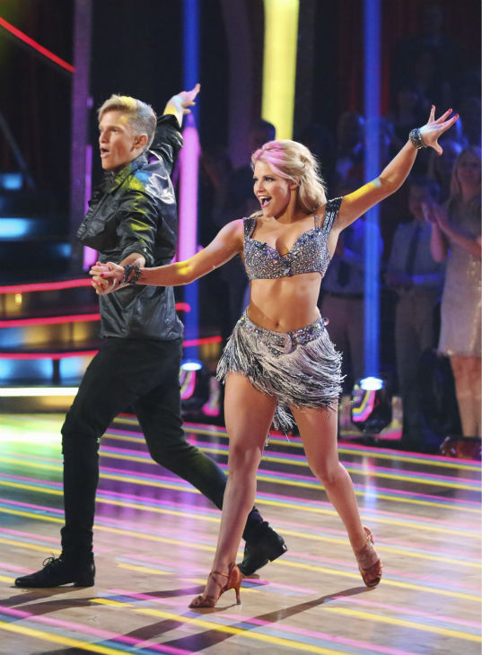 "<div class=""meta ""><span class=""caption-text "">Cody Simpson and partner Witney Carson dance the Cha Cha Cha on week 1 of ABC's 'Dancing With The Stars' on March 17, 2014. They received 22 out of 30 points from the judges. (ABC Photo / Adam Taylor)</span></div>"