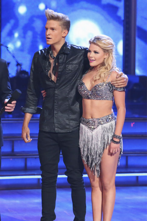 "<div class=""meta image-caption""><div class=""origin-logo origin-image ""><span></span></div><span class=""caption-text"">Cody Simpson and partner Witney Carson danced the Cha Cha Cha on week 1 of ABC's 'Dancing With The Stars' on March 17, 2014. They received 22 out of 30 points from the judges. (ABC Photo / Adam Taylor)</span></div>"