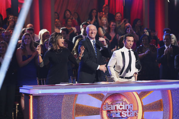 Judges Carrie Ann Inaba, Len Goodman and Bruno Tonioli appear on week 1 of ABC&#39;s &#39;Dancing With The Stars&#39; on March 17, 2014. <span class=meta>(ABC Photo &#47; Adam Taylor)</span>