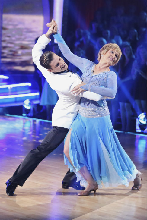 "<div class=""meta ""><span class=""caption-text "">Diana Nyad, who in 2013, famously became the first person to swim from Cuba to Florida without a shark cage, and partner Henry Byalikov dance the Foxtrot on week 1 of ABC's 'Dancing With The Stars' on March 17, 2014. They received 18 out of 30 points from the judges. (ABC Photo / Adam Taylor)</span></div>"