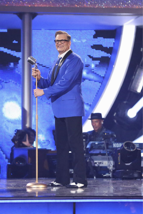 "<div class=""meta ""><span class=""caption-text "">Drew Carey dances the Jive with partner Cheryl Burke on week 2 of 'Dancing With The Stars' on March 24, 2014. They received 21 out of 30 points from the judges. (ABC Photo / Adam Taylor)</span></div>"