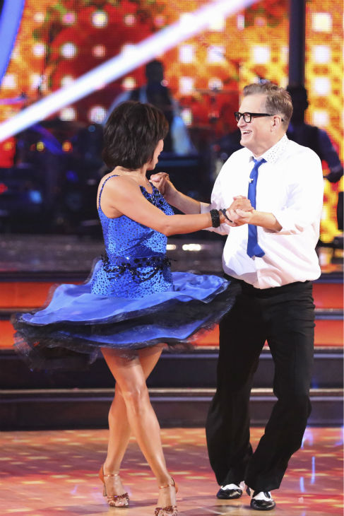 Drew Carey and Cheryl Burke dance the Jive on week 2 of &#39;Dancing With The Stars&#39; on March 24, 2014. They received 21 out of 30 points from the judges. <span class=meta>(ABC Photo &#47; Adam Taylor)</span>
