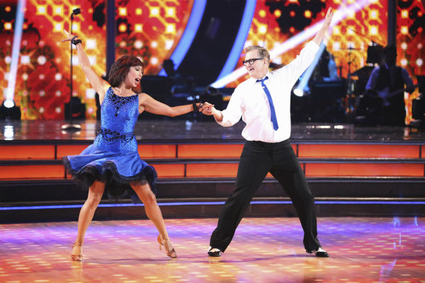 "<div class=""meta image-caption""><div class=""origin-logo origin-image ""><span></span></div><span class=""caption-text"">Drew Carey and Cheryl Burke dance the Jive on week 2 of 'Dancing With The Stars' on March 24, 2014. They received 21 out of 30 points from the judges. (ABC Photo / Adam Taylor)</span></div>"