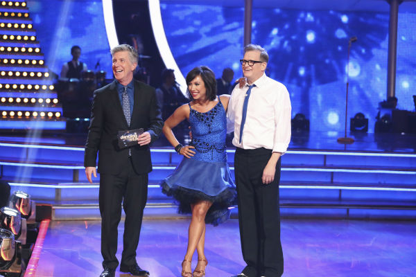 "<div class=""meta ""><span class=""caption-text "">Drew Carey and Cheryl Burke await their fate on week 2 of 'Dancing With The Stars' on March 24, 2014. They received 21 out of 30 points from the judges for their Jive. (ABC Photo / Adam Taylor)</span></div>"