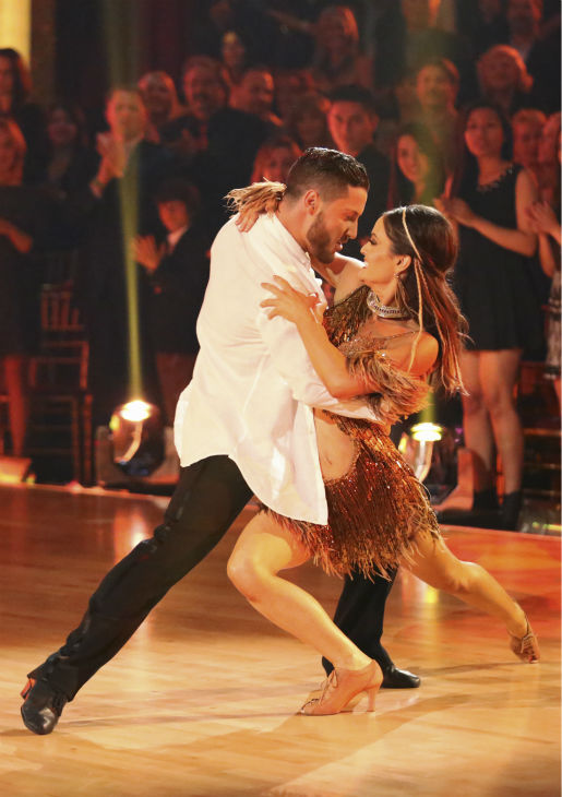 Danica McKellar of &#39;The Wonder Years&#39; fame and Valentin Chmerkovskiy dance the Samba on week 2 of &#39;Dancing With The Stars&#39; on March 24, 2014. They received 24 out of 30 points from the judges. <span class=meta>(ABC Photo &#47; Adam Taylor)</span>