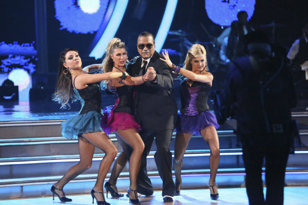 "<div class=""meta ""><span class=""caption-text "">Billy Dee Williams of 'Star Wars' fame and Emma Slater dance the Tango with supporting dancers on week 2 of 'Dancing With The Stars' on March 24, 2014. They received 15 out of 30 points from the judges. (ABC Photo / Adam Taylor)</span></div>"