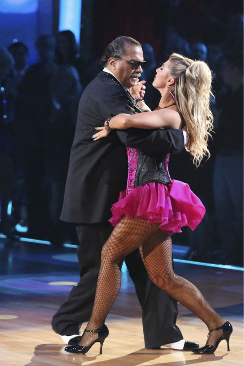 "<div class=""meta ""><span class=""caption-text "">Billy Dee Williams of 'Star Wars' fame and Emma Slater dance the Tango on week 2 of 'Dancing With The Stars' on March 24, 2014. They received 15 out of 30 points from the judges. (ABC Photo / Adam Taylor)</span></div>"