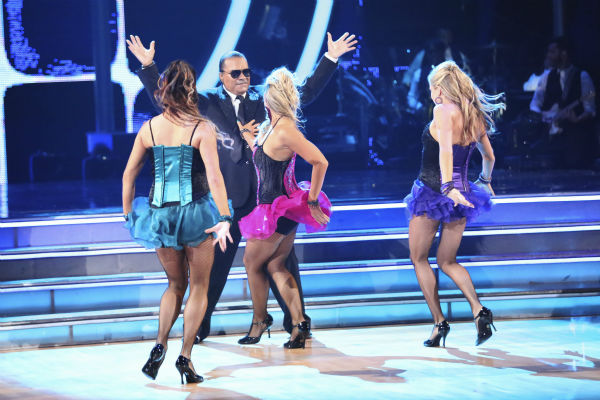 Billy Dee Williams of &#39;Star Wars&#39; fame and Emma Slater dance the Tango with supporting dancers on week 2 of &#39;Dancing With The Stars&#39; on March 24, 2014. They received 15 out of 30 points from the judges. <span class=meta>(ABC Photo &#47; Adam Taylor)</span>