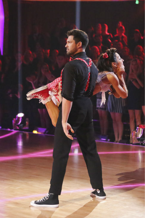 "<div class=""meta ""><span class=""caption-text "">Meryl Davis and Maksim Chmerkovskiy Swing dance on week 2 of 'Dancing With The Stars' on March 24, 2014. They received 25 out of 30 points from the judges. Davis and fellow 'DWTS' contestant Charlie White won a gold medal for ice dancing at the 2014 Olympics in Sochi, Russia earlier this year. (ABC Photo / Adam Taylor)</span></div>"