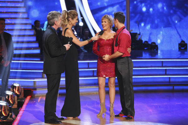 Diana Nyad and Henry Byalikov react to being eliminated on week 2 of &#39;Dancing With The Stars&#39; on March 24, 2014. They were eliminated before they could receive a score from the judges. <span class=meta>(ABC Photo &#47; Adam Taylor)</span>