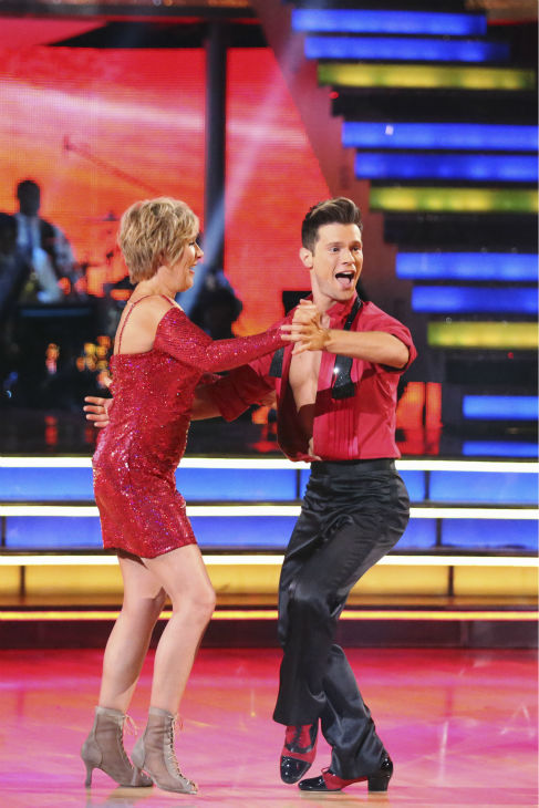 "<div class=""meta ""><span class=""caption-text "">Diana Nyad and Henry Byalikov dance the Cha Cha Cha on week 2 of 'Dancing With The Stars' on March 24, 2014. They were eliminated before they could receive a score from the judges. (ABC Photo / Adam Taylor)</span></div>"