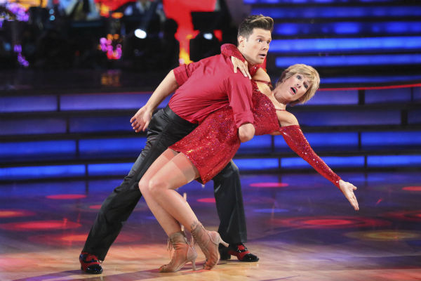 Diana Nyad and Henry Byalikov dance the Cha Cha Cha on week 2 of &#39;Dancing With The Stars&#39; on March 24, 2014. They were eliminated before they could receive a score from the judges. <span class=meta>(ABC Photo &#47; Adam Taylor)</span>