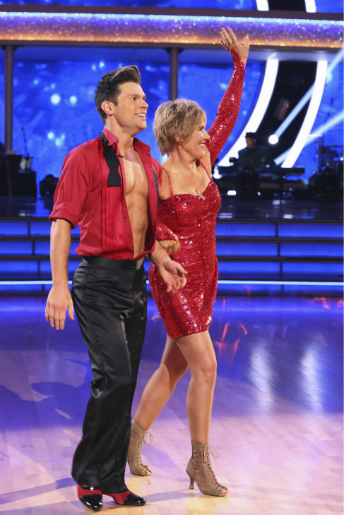 Diana Nyad and Henry Byalikov danced the Cha Cha Cha on week 2 of &#39;Dancing With The Stars&#39; on March 24, 2014. They were eliminated before they could receive a score from the judges. <span class=meta>(ABC Photo &#47; Adam Taylor)</span>