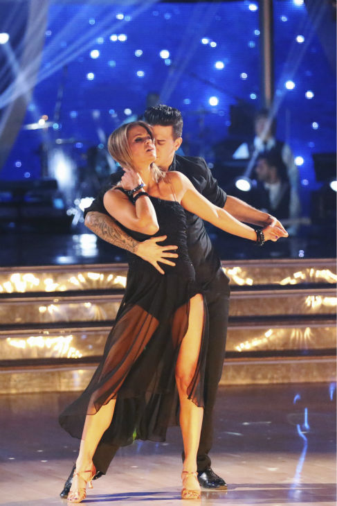 "<div class=""meta ""><span class=""caption-text "">Candace Cameron Bure of 'Full House' fame and Mark Ballas perform the Rumba on week 2 of 'Dancing With The Stars' on March 24, 2014. They received 21 out of 30 points from the judges. (ABC Photo / Adam Taylor)</span></div>"