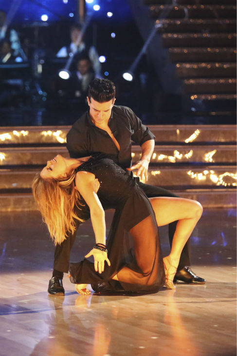 Candace Cameron Bure of &#39;Full House&#39; fame and Mark Ballas perform the Rumba on week 2 of &#39;Dancing With The Stars&#39; on March 24, 2014. They received 21 out of 30 points from the judges. <span class=meta>(ABC Photo &#47; Adam Taylor)</span>