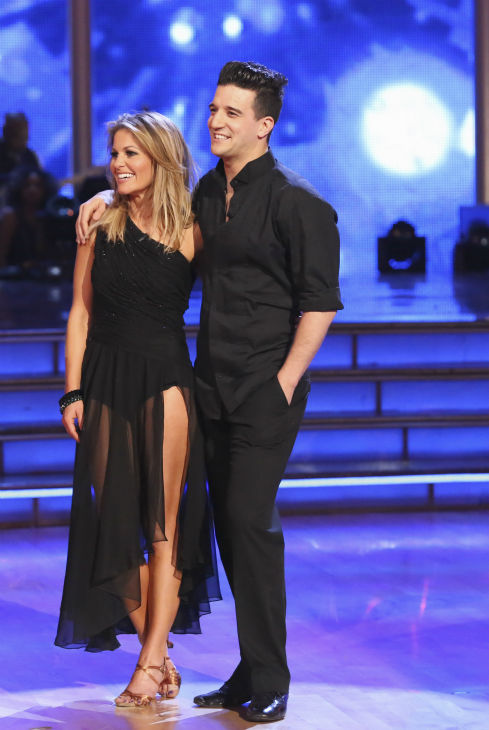 Candace Cameron Bure of &#39;Full House&#39; fame and Mark Ballas react to being safe from elimination on week 2 of &#39;Dancing With The Stars&#39; on March 24, 2014. They received 21 out of 30 points from the judges for their Rumba. <span class=meta>(ABC Photo &#47; Adam Taylor)</span>