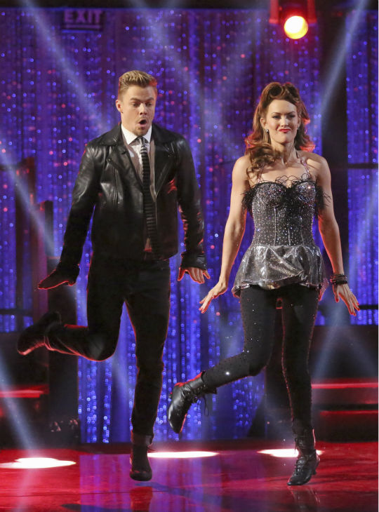 Amy Purdy, a double amputee and U.S. Paralympic Team Snowboarder, and Derek Hough Swing dance on week 2 of &#39;Dancing With The Stars&#39; on March 24, 2014. They received 24 out of 30 points from the judges. <span class=meta>(ABC Photo &#47; Adam Taylor)</span>