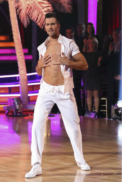 James Maslow of &#39;Big Time Rush&#39; dances the Salsa with partner Peta Murgatroyd on week 2 of &#39;Dancing With The Stars&#39; on March 24, 2014. They received 25 out of 30 points from the judges. <span class=meta>(ABC Photo &#47; Adam Taylor)</span>