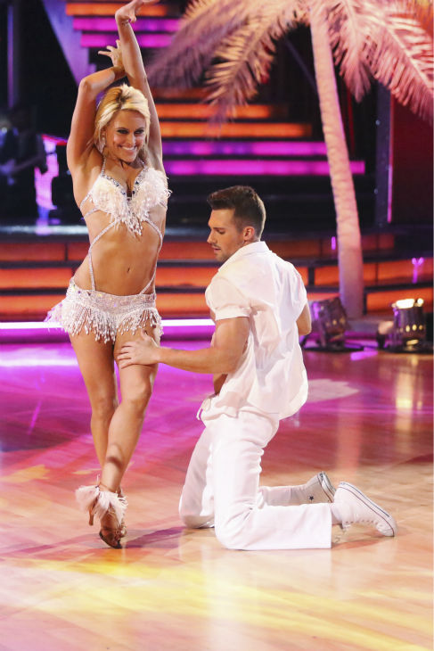 "<div class=""meta ""><span class=""caption-text "">James Maslow of 'Big Time Rush' and Peta Murgatroyd dance the Salsa on week 2 of 'Dancing With The Stars' on March 24, 2014. They received 25 out of 30 points from the judges. (ABC Photo / Adam Taylor)</span></div>"
