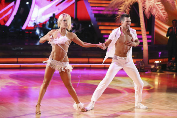 James Maslow of &#39;Big Time Rush&#39; and Peta Murgatroyd dance the Salsa on week 2 of &#39;Dancing With The Stars&#39; on March 24, 2014. They received 25 out of 30 points from the judges. <span class=meta>(ABC Photo&#47; Adam Taylor)</span>