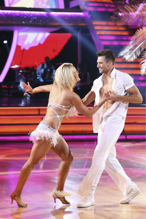 James Maslow of &#39;Big Time Rush&#39; and Peta Murgatroyd dance the Salsa on week 2 of &#39;Dancing With The Stars&#39; on March 24, 2014. They received 25 out of 30 points from the judges. <span class=meta>(ABC Photo &#47; Adam Taylor)</span>