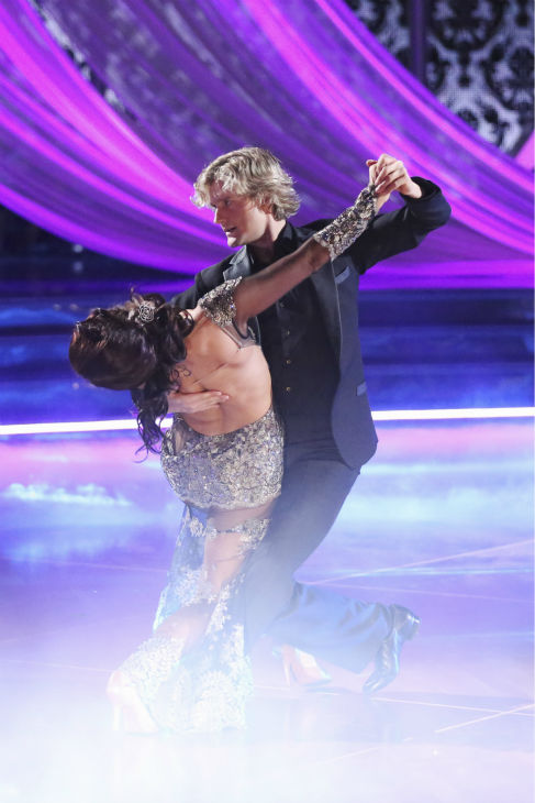 "<div class=""meta ""><span class=""caption-text "">Charlie White and Sharna Burgess dance the Tango on week 2 of 'Dancing With The Stars' on March 24, 2014. They received 25 out of 30 points from the judges. White and fellow 'DWTS' contestant Meryl Davis won a gold medal for ice dancing at the 2014 Olympics in Sochi, Russia earlier this year. (ABC Photo / Adam Taylor)</span></div>"