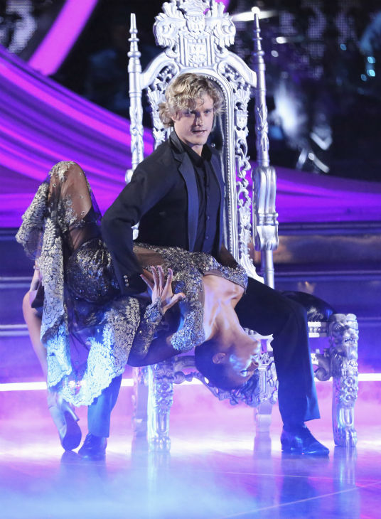 Charlie White and Sharna Burgess dance the Tango on week 2 of &#39;Dancing With The Stars&#39; on March 24, 2014. They received 25 out of 30 points from the judges. White and fellow &#39;DWTS&#39; contestant Meryl Davis won a gold medal for ice dancing at the 2014 Olympics in Sochi, Russia earlier this year. <span class=meta>(ABC Photo &#47; Adam Taylor)</span>