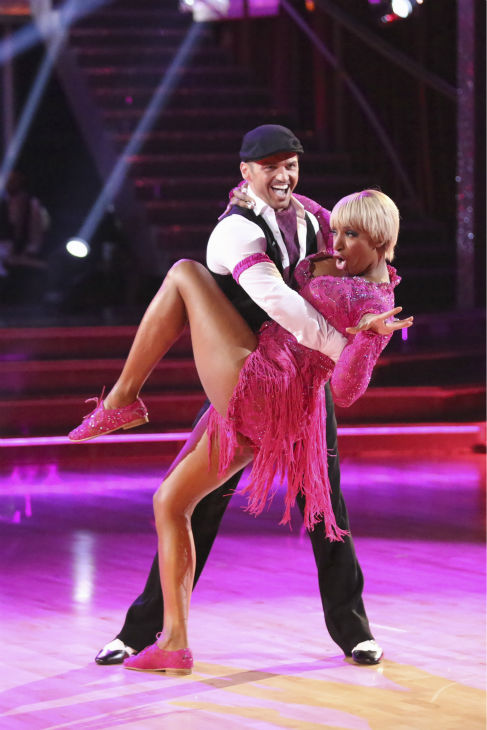 NeNe Leakes of &#39;The Real Housewives of Atlanta&#39; and Tony Dovolani dance the Jive on week 2 of &#39;Dancing With The Stars&#39; on March 24, 2014. They received 21 out of 30 points from the judges. <span class=meta>(ABC Photo &#47; Adam Taylor)</span>