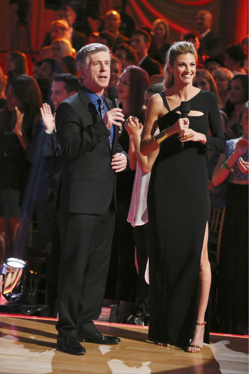 &#39;Dancing With The Stars&#39; co-hosts Tom Bergeron and Erin Andrews appear on week 2 of &#39;Dancing With The Stars&#39; on March 24, 2014. <span class=meta>(ABC Photo &#47; Adam Taylor)</span>