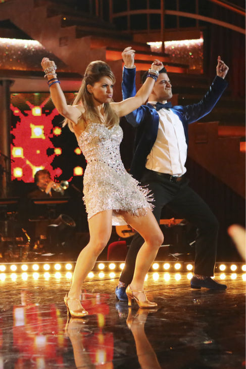"<div class=""meta image-caption""><div class=""origin-logo origin-image ""><span></span></div><span class=""caption-text"">Candace Cameron Bure of 'Full House' fame and Mark Ballas perform the Jive on week 3 of ABC's 'Dancing With The Stars' on March 31, 2014. They received 32 out of 40 points from the judges. (ABC Photo / Adam Taylor)</span></div>"