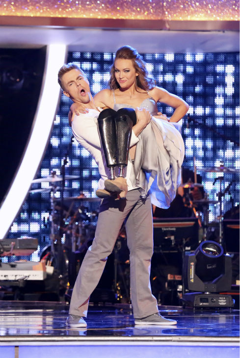 Amy Purdy and Derek Hough appear on week 3 of ABC&#39;s &#39;Dancing With The Stars&#39; on March 31, 2014. They received 36 out of 40 points from the judges for their Contemporary routine. <span class=meta>(ABC Photo &#47; Adam Taylor)</span>