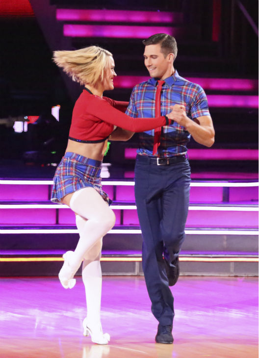 James Maslow and Peta Murgatroyd dance the Jive on week 3 of ABC&#39;s  &#39;Dancing With The Stars&#39; on March 31, 2014. They received 36 out of 40 points from the judges. <span class=meta>(ABC Photo &#47; Adam Taylor)</span>