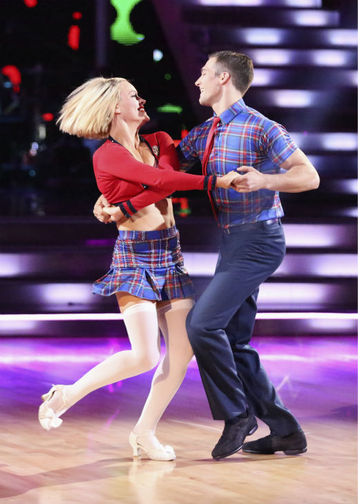 "<div class=""meta image-caption""><div class=""origin-logo origin-image ""><span></span></div><span class=""caption-text"">James Maslow and Peta Murgatroyd dance the Jive on week 3 of ABC's  'Dancing With The Stars' on March 31, 2014. They received 36 out of 40 points from the judges. (ABC Photo / Adam Taylor)</span></div>"