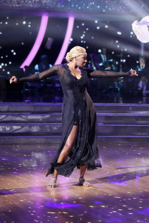 "<div class=""meta ""><span class=""caption-text "">NeNe Leakes dances the Rumba with partner Tony Dovolani on week 3 of ABC's 'Dancing With The Stars' on March 31, 2014. They received 31 out of 40 points from the judges. (ABC Photo / Adam Taylor)</span></div>"