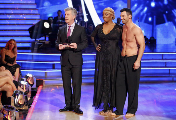 NeNe Leakes and Tony Dovolani await their fate on week 3 of ABC&#39;s &#39;Dancing With The Stars&#39; on March 31, 2014. They received 31 out of 40 points from the judges for their Rumba. <span class=meta>(ABC Photo &#47; Adam Taylor)</span>