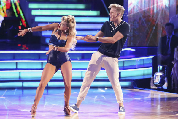"<div class=""meta ""><span class=""caption-text "">Cody Simpson and Witney Carson dance a Jazz routine on week 3 of ABC's 'Dancing With The Stars' on March 31, 2014. They received 35 out of 40 points from the judges. (ABC Photo / Adam Taylor)</span></div>"