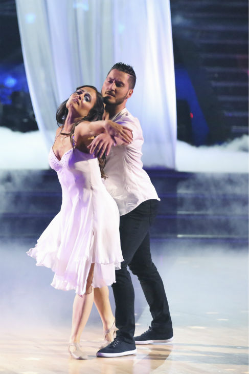 "<div class=""meta ""><span class=""caption-text "">Danica McKellar of 'The Wonder Years' fame and Valentin Chmerkovskiy dance a Contemporary routine on week 3 of ABC's 'Dancing With The Stars' on March 31, 2014. They received 36 out of 40 points from the judges. (ABC Photo / Adam Taylor)</span></div>"