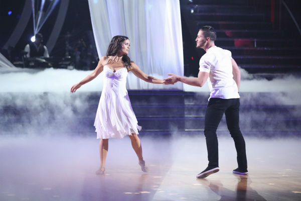 Danica McKellar of &#39;The Wonder Years&#39; fame and Valentin Chmerkovskiy dance a Contemporary routine on week 3 of ABC&#39;s &#39;Dancing With The Stars&#39; on March 31, 2014. They received 36 out of 40 points from the judges. <span class=meta>(ABC Photo &#47; Adam Taylor)</span>