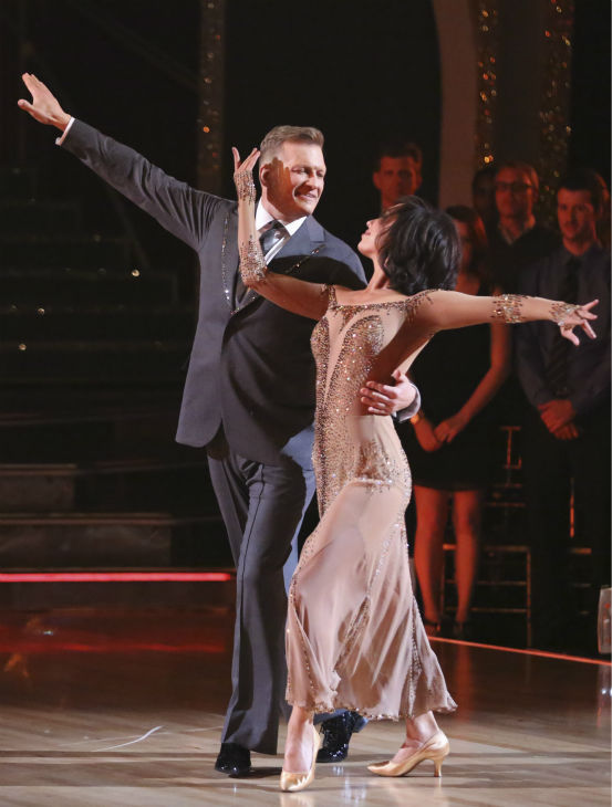 "<div class=""meta image-caption""><div class=""origin-logo origin-image ""><span></span></div><span class=""caption-text"">Drew Carey and Cheryl Burke dance the Waltz on week 3 of ABC's 'Dancing With The Stars' on March 31, 2014. They received 30 out of 40 points from the judges. (ABC Photo / Adam Taylor)</span></div>"
