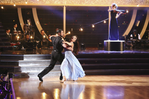 Meryl Davis and Maksim Chmerkovskiy dance the Foxtrot on week 3 of ABC&#39;s &#39;Dancing With The Stars&#39; on March 31, 2014. They received 39 out of 40 points from the judges. Davis and fellow &#39;DWTS&#39; contestant Charlie White won Olympic gold medals for ice dancing at the 2014 Sochi Olympics. <span class=meta>(ABC Photo &#47; Adam Taylor)</span>
