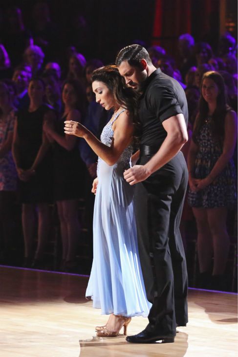 Meryl Davis and Maksim Chmerkovskiy dance the Foxtrot on week 3 of ABC&#39;s &#39;Dancing With The Stars&#39; on March 31, 2014. They received 39 out of 40 points from the judges. Davis and fellow &#39;DWTS&#39; contestant Charlie White won Olympic gold medals for ice dancing at the 2014 Sochi Olympics. <span class=meta>(ABC Photo&#47; Adam Taylor)</span>