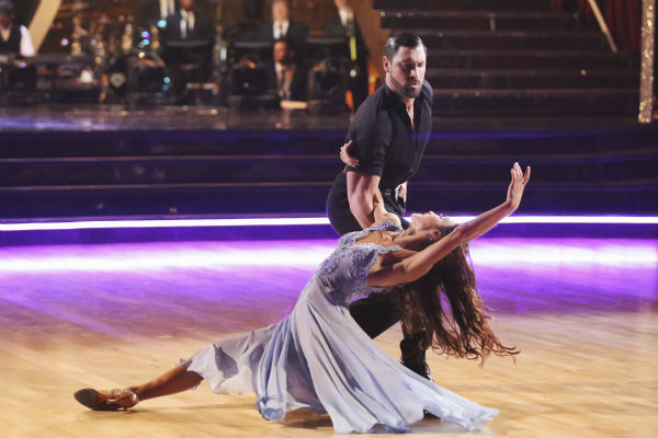 "<div class=""meta ""><span class=""caption-text "">Meryl Davis and Maksim Chmerkovskiy dance the Foxtrot on week 3 of ABC's 'Dancing With The Stars' on March 31, 2014. They received 39 out of 40 points from the judges. Davis and fellow 'DWTS' contestant Charlie White won Olympic gold medals for ice dancing at the 2014 Sochi Olympics. (ABC Photo / Adam Taylor)</span></div>"