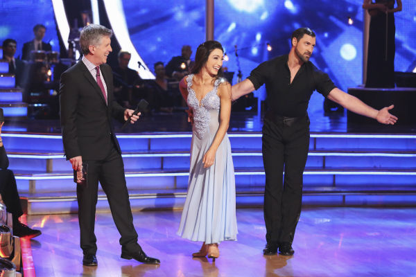 "<div class=""meta image-caption""><div class=""origin-logo origin-image ""><span></span></div><span class=""caption-text"">Meryl Davis and Maksim Chmerkovskiy appear on week 3 of ABC's 'Dancing With The Stars' on March 31, 2014. They received 39 out of 40 points from the judges for their Foxtrot. Davis and fellow 'DWTS' contestant Charlie White won Olympic gold medals for ice dancing at the 2014 Sochi Olympics. (ABC Photo / Adam Taylor)</span></div>"