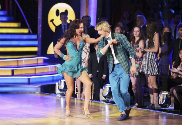 Charlie White and Sharna Burgess dance the Jive on week 3 of ABC&#39;s &#39;Dancing With The Stars&#39; on March 31, 2014. They received 36 out of 40 points from the judges. White and fellow &#39;DWTS&#39; contestant Meryl Davis won Olympic gold medals for ice dancing at the 2014 Sochi Olympics. <span class=meta>(ABC Photo &#47; Adam Taylor)</span>
