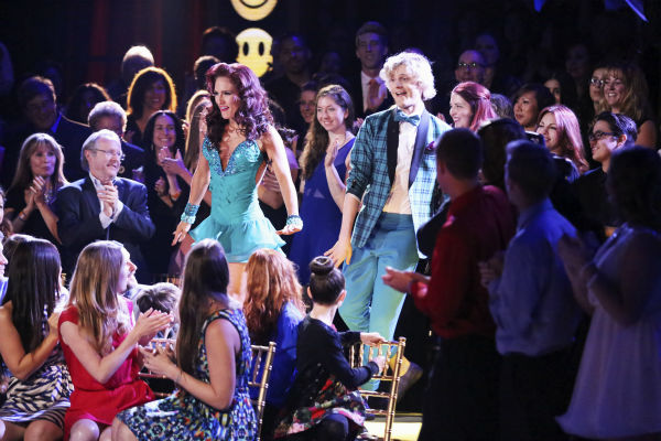 "<div class=""meta ""><span class=""caption-text "">Charlie White and Sharna Burgess dance the Jive on week 3 of ABC's 'Dancing With The Stars' on March 31, 2014. They received 36 out of 40 points from the judges. White and fellow 'DWTS' contestant Meryl Davis won Olympic gold medals for ice dancing at the 2014 Sochi Olympics. (ABC Photo / Adam Taylor)</span></div>"