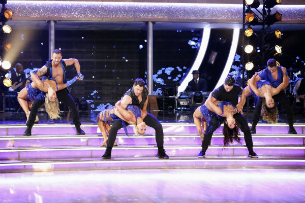 "<div class=""meta ""><span class=""caption-text "">The 'Macy's Stars of Dance' returned for the first time during week 4 of ABC's 'Dancing With The Stars' season 18 on April 7, 2014, with creative oversight by dance pro Derek Hough. The performance featured choreography that blended Latin and contemporary dance styles. It also featured both the Pro and Troupe dancers as well as 'So You Think You Can Dance' all-star Kathryn McCormick. (ABC Photo / Adam Taylor)</span></div>"