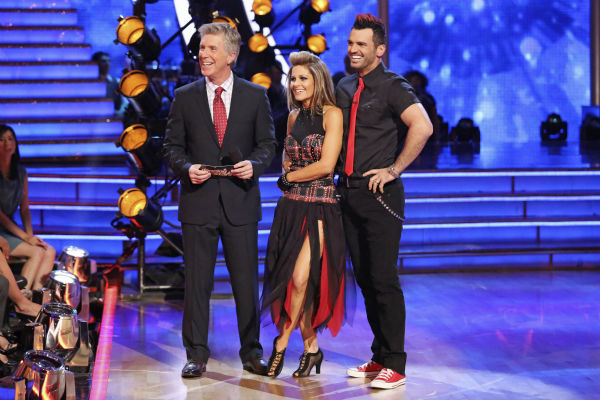 "<div class=""meta image-caption""><div class=""origin-logo origin-image ""><span></span></div><span class=""caption-text"">Candace Cameron Bure and Tony Dovolani performed the Quickstep on week 4 of 'Dancing With The Stars' on April 7, 2014. They received 28 out of 40 points from the judges. Bure's regular partner is Mark Ballas. (ABC Photo / Adam Taylor)</span></div>"