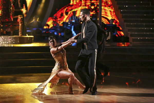 "<div class=""meta image-caption""><div class=""origin-logo origin-image ""><span></span></div><span class=""caption-text"">James Maslow and Cheryl Burke danced the Tango on week 4 of ABC's 'Dancing With The Stars' on April 7, 2014. They received 35 out of 40 points from the judges. Maslow's regular partner is Peta Murgatroyd. (ABC Photo / Adam Taylor)</span></div>"